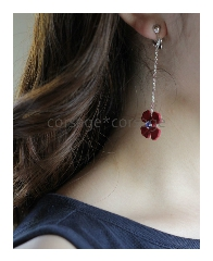 Leather & Swarovski Pierce(Earing)/corsage*corsage
