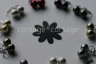 Cottonpearl Earring/corsage*corsage