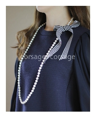 Cotton Pearl Long Necklace/corsage*corsage