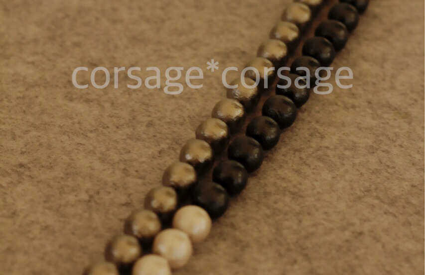 CottonPearl Necklace/corsage*corsge