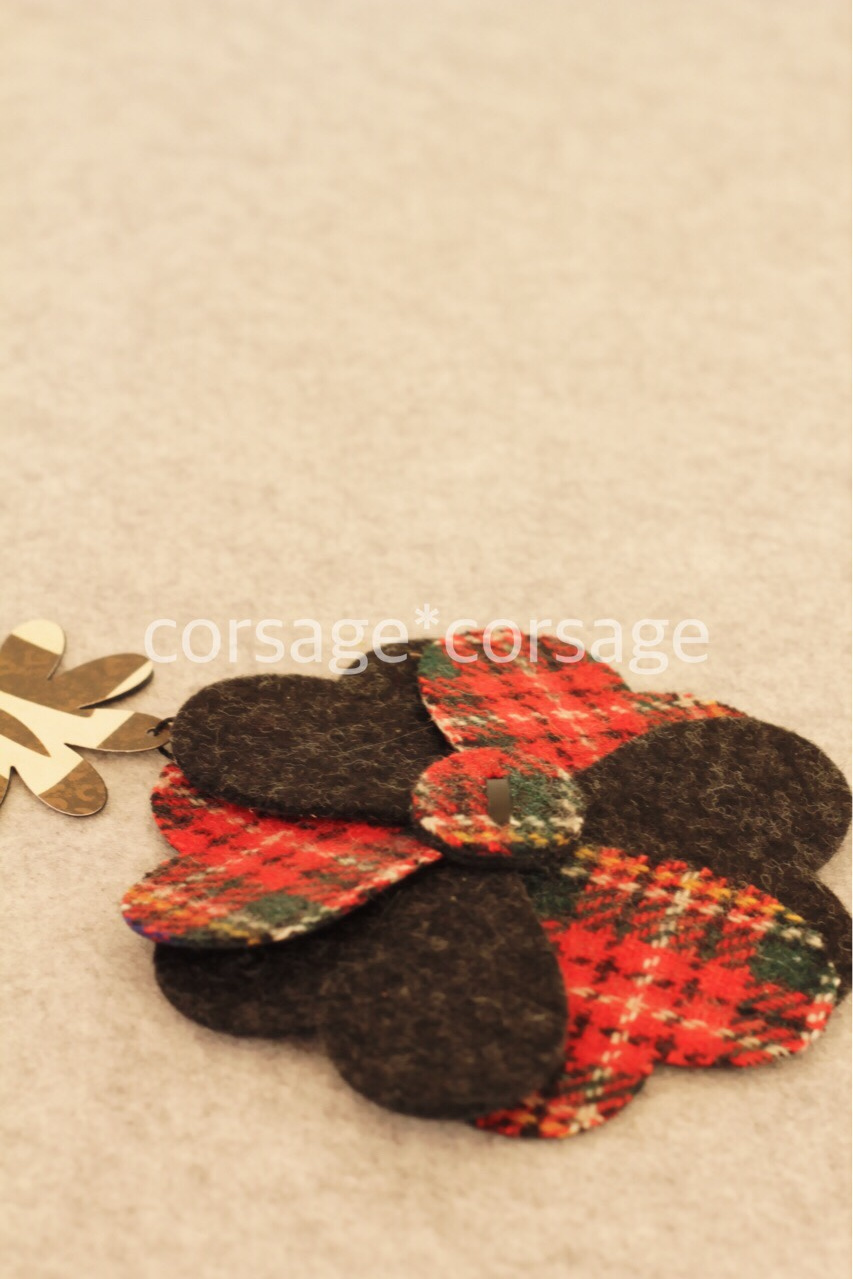 Wool Tweed Corsage/corsage*corsage