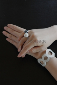 Cottonpearl Ring/corsage*corsage
